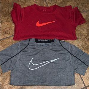 Nike Dri-fit shirts SZ SM.